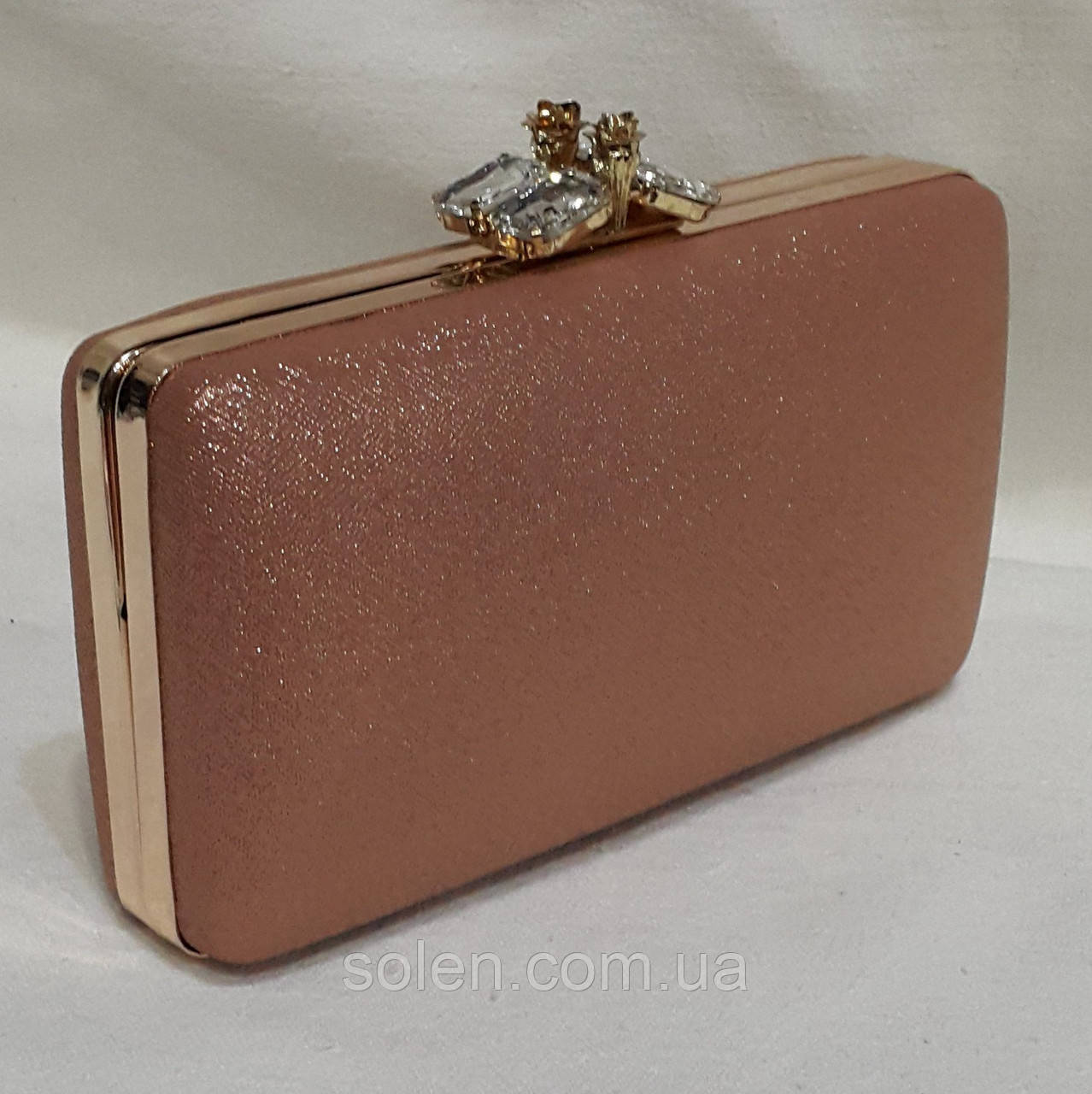 2a7ef92e8854 Вечерняя сумочка клатч на цепочке. Вечерний золотой клатч. -  Интернет-магазин сумок Solen