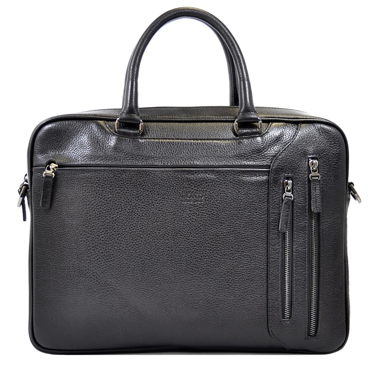 Деловая мужская сумка Bond из натуральной кожи