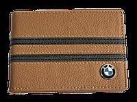 Кожаная обложка для прав Carrs с логотипом BMW коричневая (BM12)