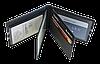Кожаная обложка для прав Carrs с логотипом PORSCHE черная (POR06), фото 4