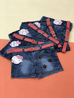 Детские джинсовые шорты для девочек 1,4,5 лет