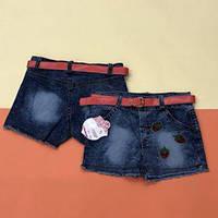 Летние детские джинсовые шорты для девочки 1 год и 3-4 года
