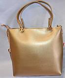 Брендові жіночі сумки МК еко-шкіра (2 кольори)26*28, фото 3