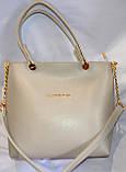 Брендові жіночі сумки МК еко-шкіра (2 кольори)26*28, фото 5