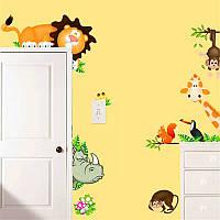 "Наклейка на стену, виниловые наклейки, наклейки для детского сада ""Тваринки "" (лист 30*90см)"