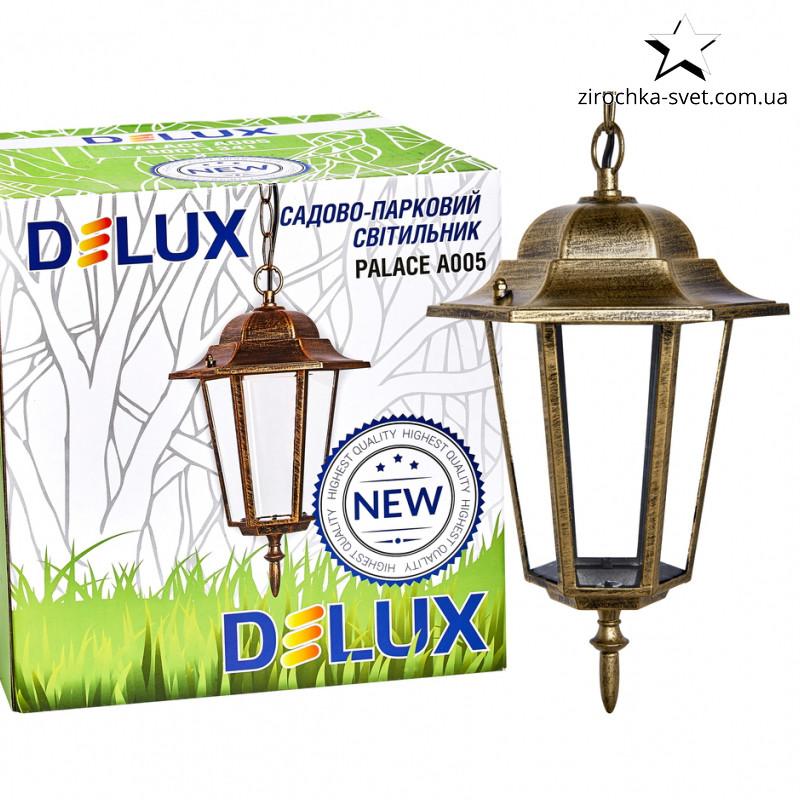 Подвесной уличный светильник DELUX PALACE A005 E27 черный золото
