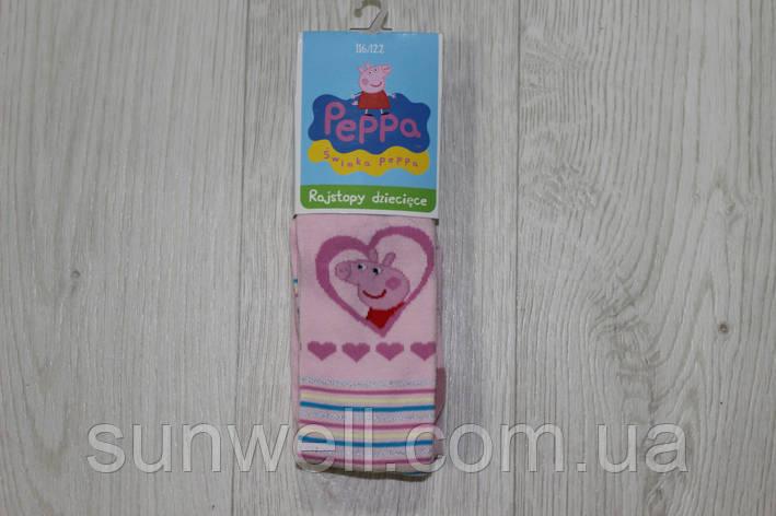 Детские колготы для девочек, свинка Пеппа, Польша р-р 92/98, 116/122 см, фото 2