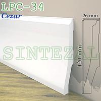Плинтус из дюрополимера Cezar Elegance LPC-34, H=120 мм.
