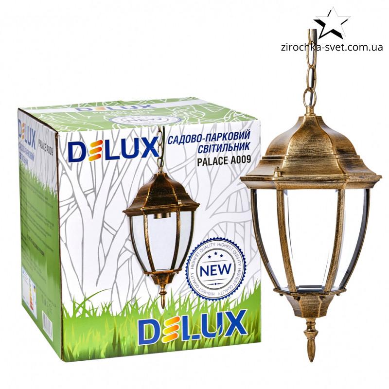 Подвесной уличный светильник DELUX PALACE A009 E27 черный золото