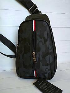 Текстильный рюкзак-банан с одной лямкой