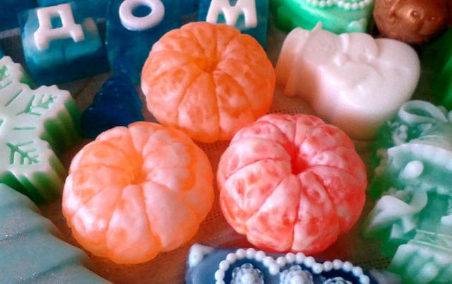 ароматные новогодние мандаринки, с маслом облепихи и эфирным маслом мандарина!