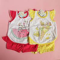 Набор для девочки майка шорты размер 74,80,86,92