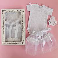 Боди юбка носочки для девочки Колибри
