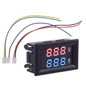 Цифровой вольтметр амперметр до 100В, 10А, LED