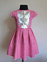 Детское летнее платье сарафан для девочек с паетками