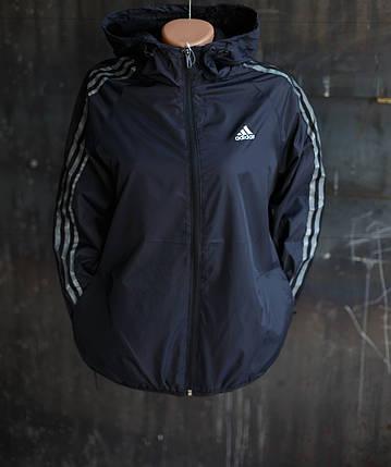 Ветровка женская Adidas.Черная,плащевка , фото 2