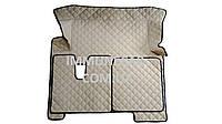 Автомобильные ковры из экокожи MAN TGX АКП бежевого цвета в кабину Т01