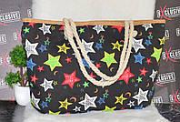 Пляжная сумочка с канатными ручками Звезды, фото 1