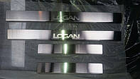 Накладки на пороги  Renault Logan I 2005- 4шт. Standart