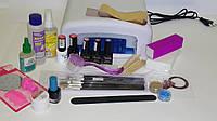 Стартовый набор для покрытия гель-лаком Tertio с УФ-лампой (3 цветных гель-лака+дизайн)