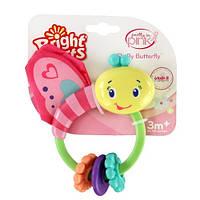 Развивающая игрушка-погремушка Розовая бабочка Bright Starts