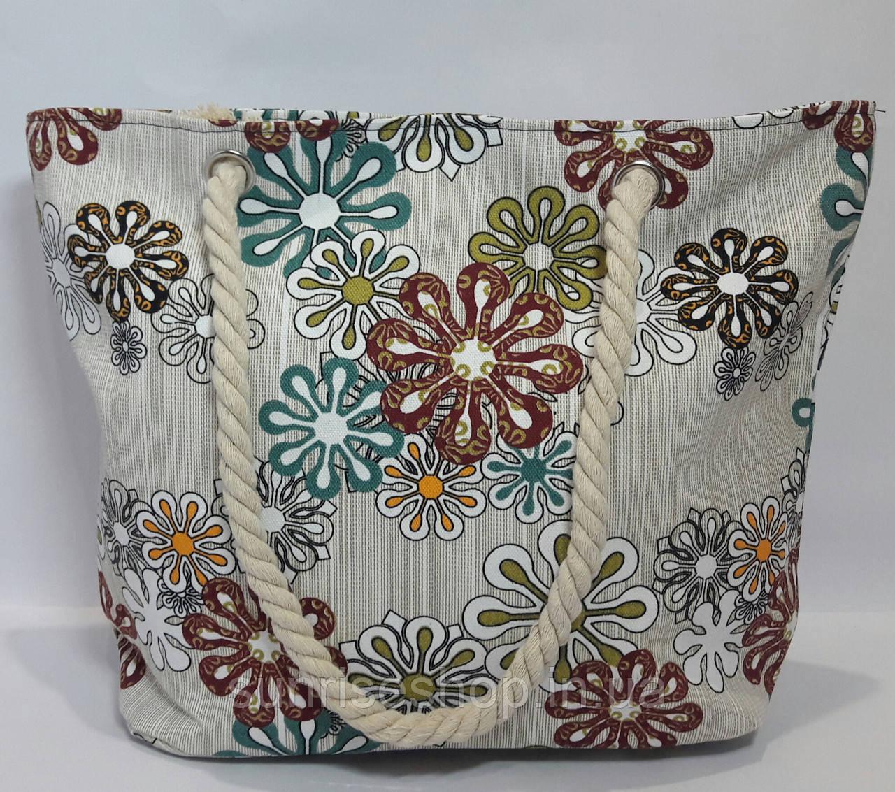 Пляжная сумка текстильная летняя опт