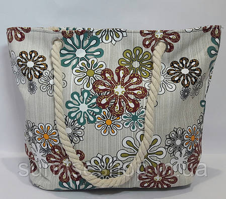 Пляжная сумка текстильная летняя опт, фото 2