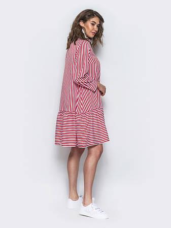 Сукня у стилі oversize в яскраву смугу червоний розмір 44,46,48, фото 2
