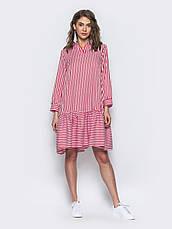 Сукня у стилі oversize в яскраву смугу червоний розмір 44,46,48, фото 3