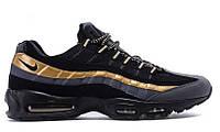 """Мужские Кроссовки Nike Air Max 95 """"Black Gold"""" - """"Черные Золотые"""" (Копия ААА+)"""