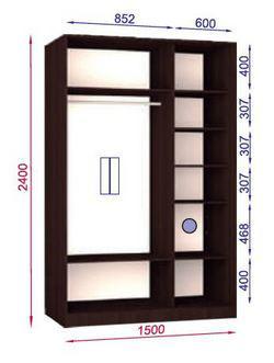 вариант наполнения шкафа стандарт 1