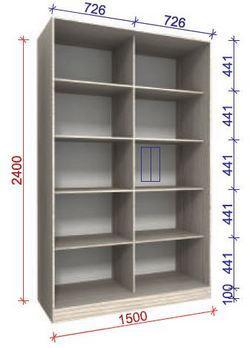 вариант наполнения шкафа стандарт 3