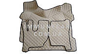 Автомобильные ковры экокожа VOLVO FH 12-16 АКП бежевые  2008-2013 Т01