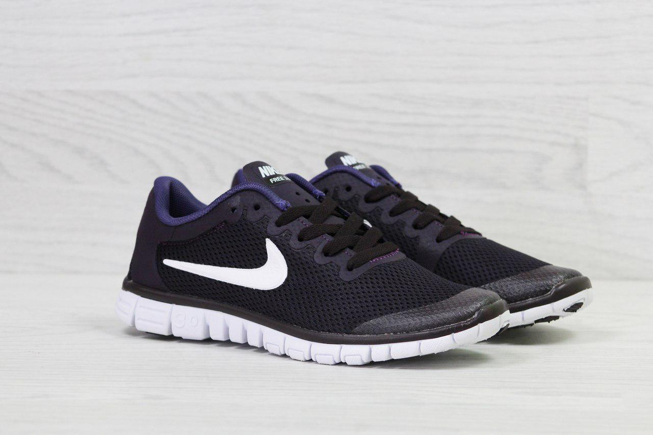 98395fda ... Кроссовки женские темно фиолетовые Nike Free Run 3.0 5305, фото 4