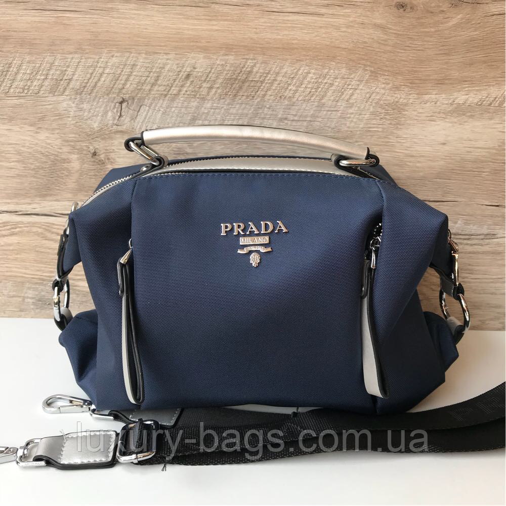 62a5c3d6cd81 Женская сумка плащевка среднего размера Prada, цена 901 грн., купить ...