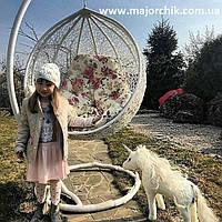 Детское подвесное кресло кокон из ротанга + ПОДАРОК