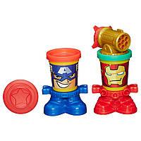 """Ігровий набір Play-Doh """"Герої Марвел"""" - Залізна Людина і Капітан Америка, фото 1"""