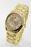 Женские наручные часы Tomy Hiifiger золото с золотым циферблатом в стиле Томми Хилфигер