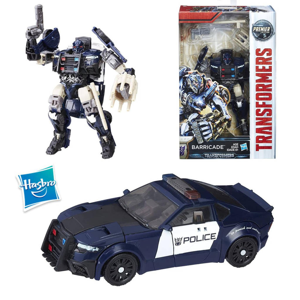 Трансформеры 5 Последний рыцарь класс делюкс Баррикейд Transformers The Last Knight Deluxe Barricade