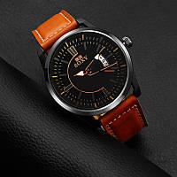 Часы мужские SOXY с кожаным ремешком (brown)