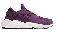 "Женские Кроссовки Nike Huarache ""Purple Mulberry"" - ""Бордовые"" (Копия ААА+)"