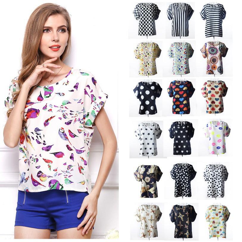 19 ЦВЕТОВ  Блуза с коротким рукавом Liva Girl