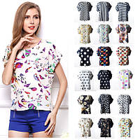 19 ЦВЕТОВ  Блуза с коротким рукавом Liva Girl, фото 1