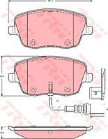 Колодки тормозные VW POLO, SEAT IBIZA V передние (TRW). GDB1472