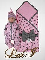 """Летний набор для новорожденных """"Звездопад"""" розовый, фото 1"""