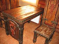 Дизайн интерьера ресторанов мебель под старину. Стол и стул.