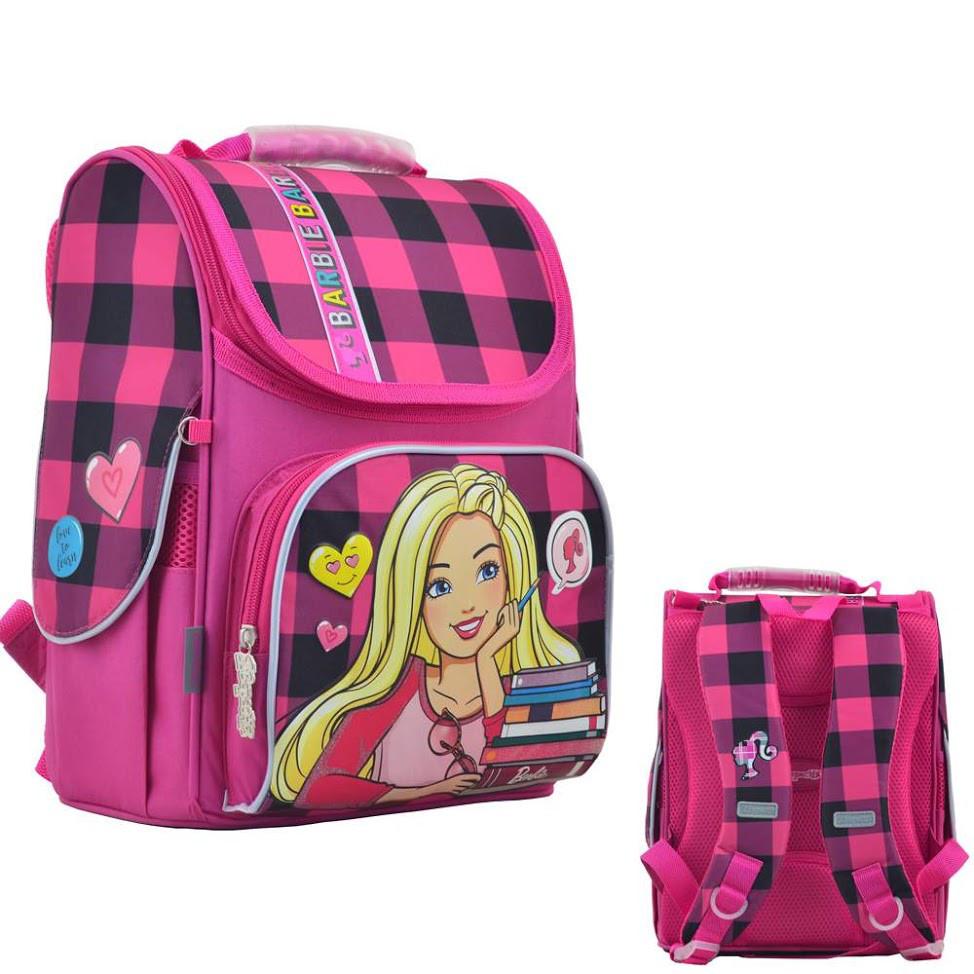 Рюкзак каркасный Н-11 Barbie red. 33.5*26*13.5 555156