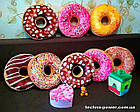 "3D Подушка декоративная Пончик ""Розовый"". Подушка-антистресс (6 видов). Подушка-игрушка Пончик Розовый, фото 9"