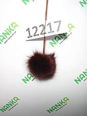 Меховой помпон Песец, Бордо, 4 см, 12217, фото 2
