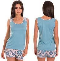 Пижама женская вискоза комплект домашний майка и шорты Украина 529cb92ae6161